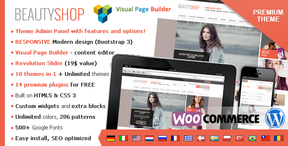 ThemeForest BeautyShop Premium WordPress WooCommerce theme 8429208