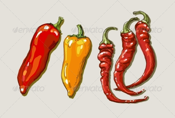 GraphicRiver Red Peppers 8429307