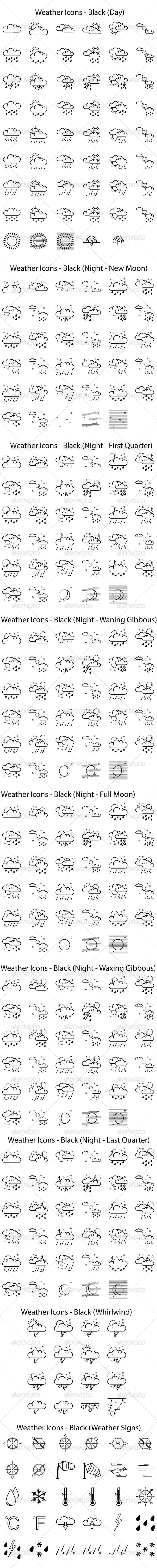 GraphicRiver Weather Icons 8429313