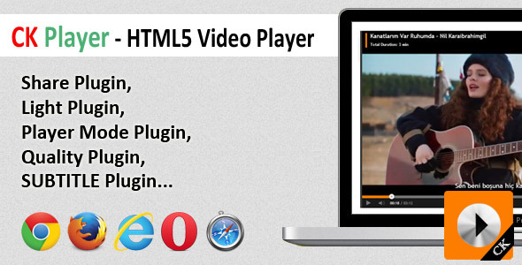 CodeCanyon CK Player HTML5 Video Player 8429341