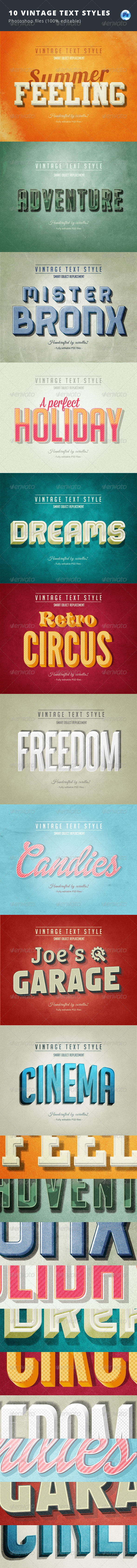 GraphicRiver 10 Vintage Text Styles 8429375
