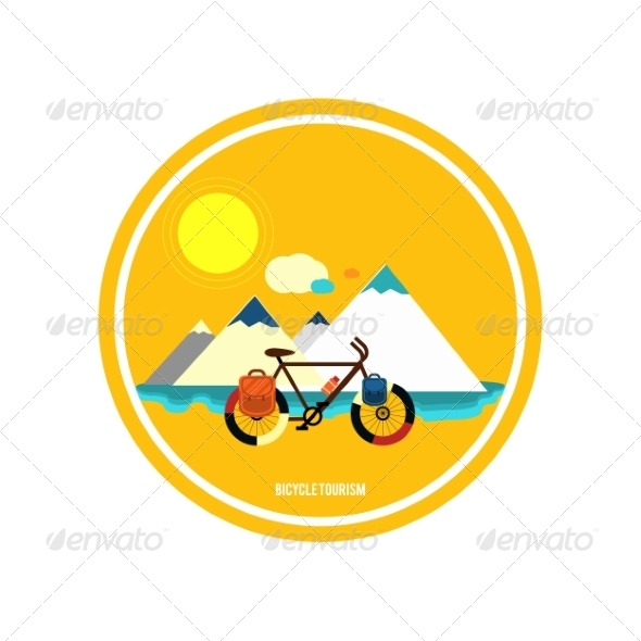 GraphicRiver Bicycle Tourism 8429406