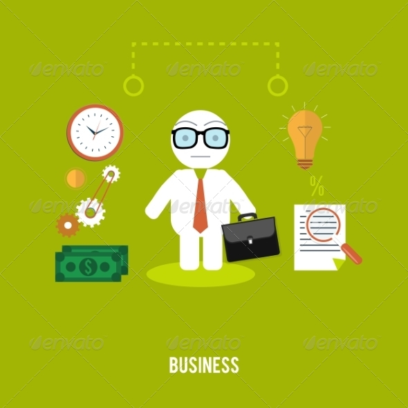 GraphicRiver Businessman with Case 8429428