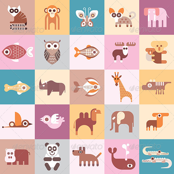GraphicRiver Animals 8429457