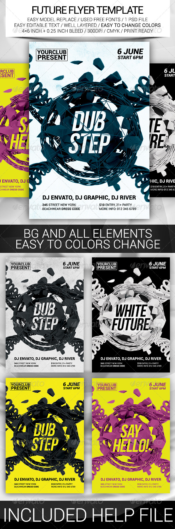 GraphicRiver Future Flyer Template 8429526