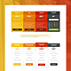 Medical and Hosting Pricing Tables - GraphicRiver Item for Sale