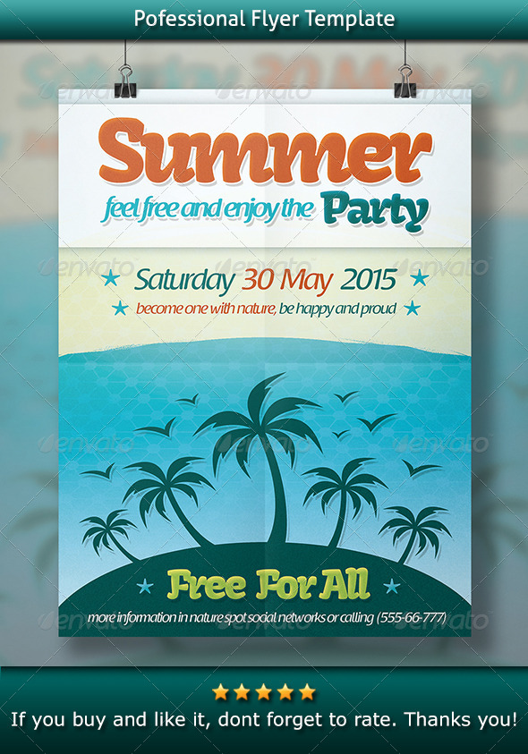 GraphicRiver Summer Party Flyer 8429530