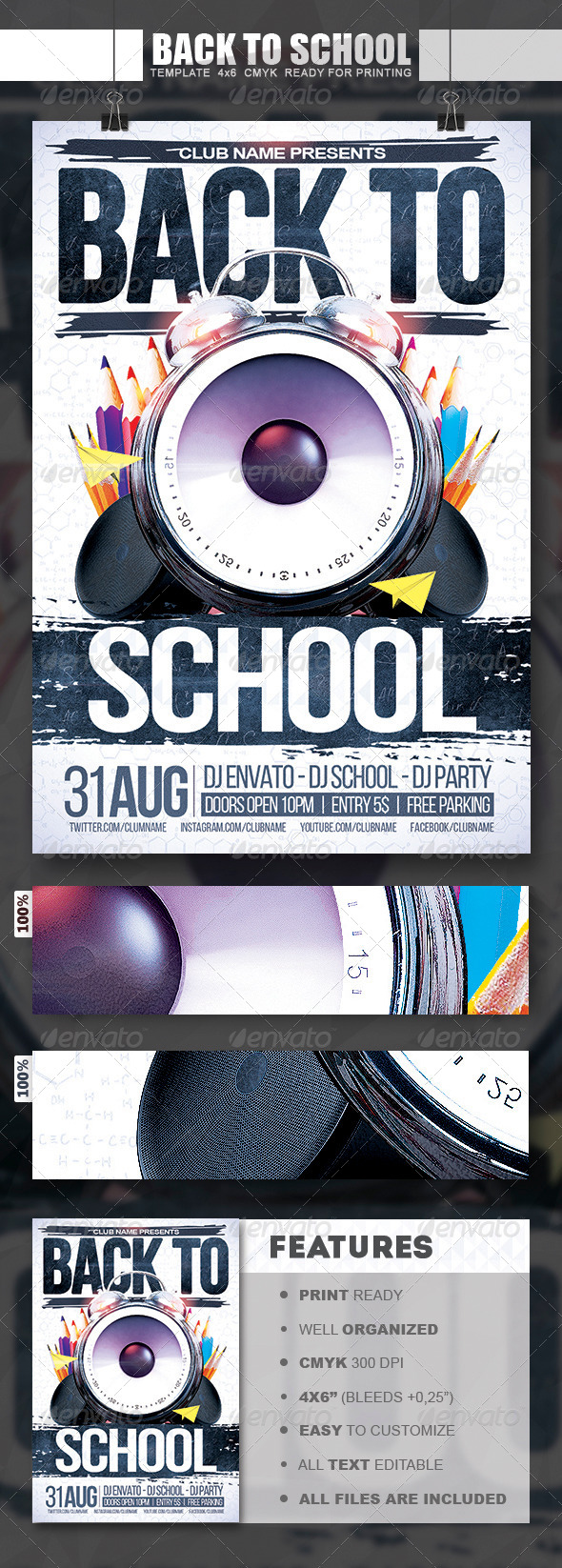 GraphicRiver Back To School Flyer 8429597