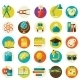 Set of Flat School Icons - GraphicRiver Item for Sale