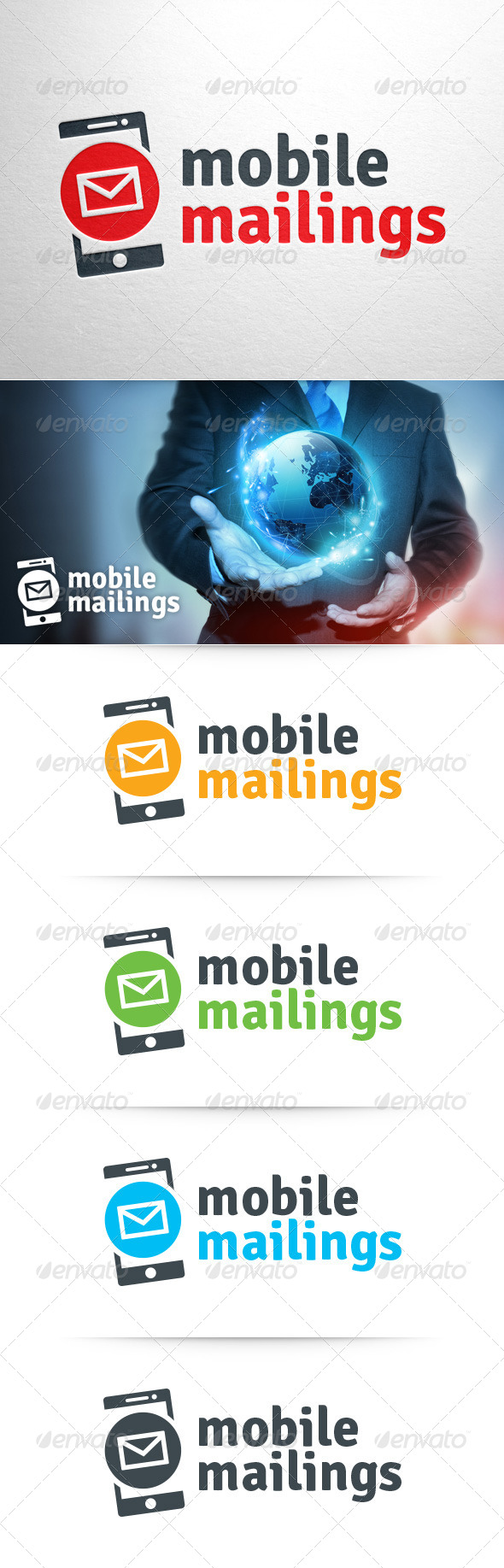 GraphicRiver Mobile Mailings Logo Template 8429721