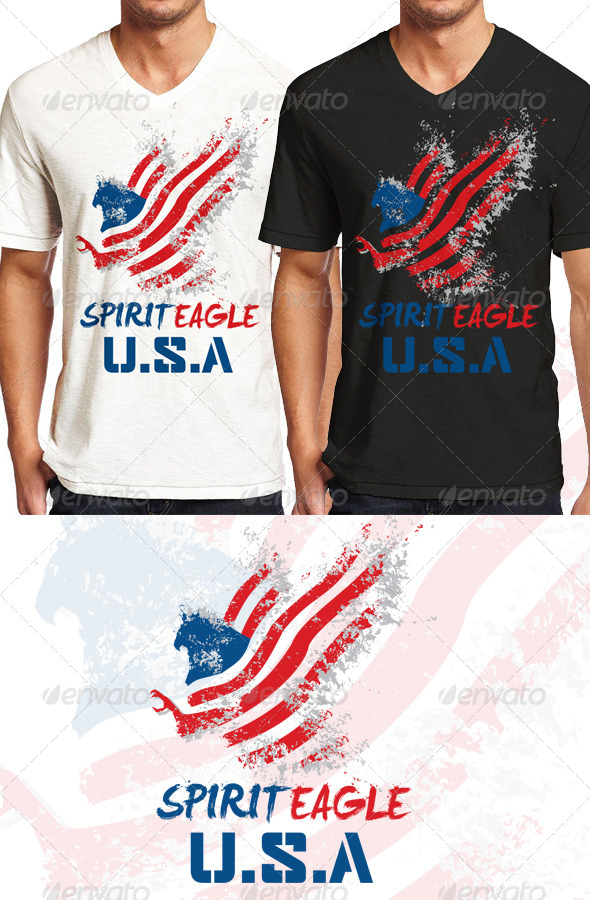 GraphicRiver Spirit Eagle T Shirt Graphic 8406910