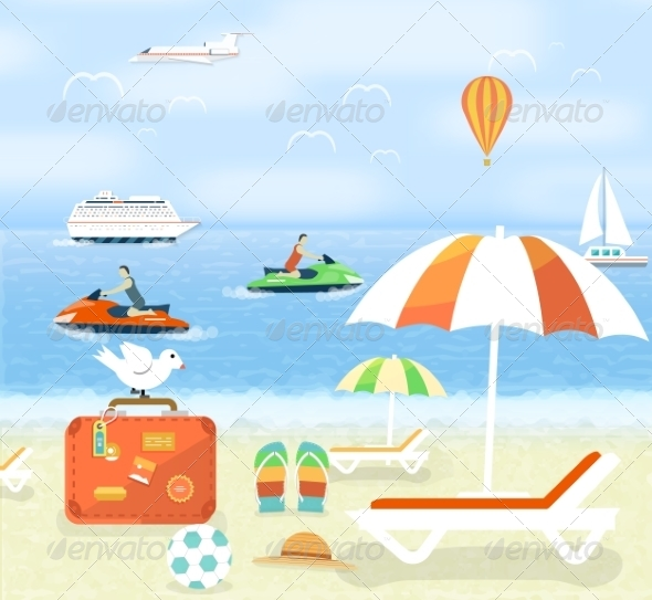 GraphicRiver Traveling and Planning Summer Vacation Set 8429789
