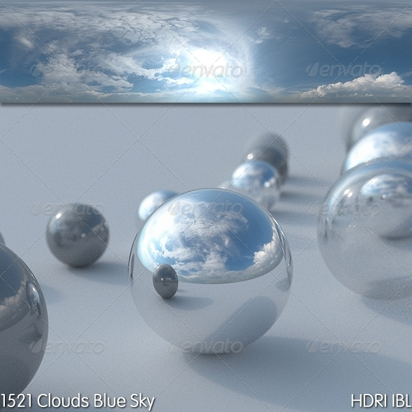HDRI IBL 1521 Clouds Blue Sky