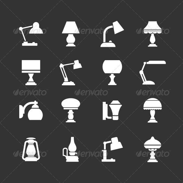 GraphicRiver Set Icons of Lamps 8429799