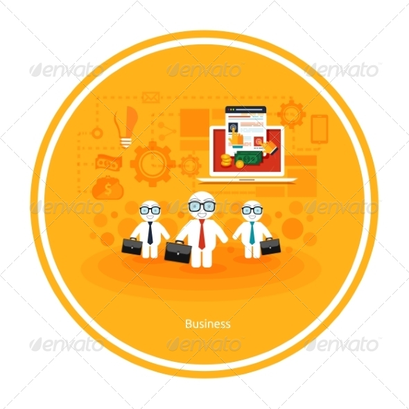GraphicRiver Businessmens with Cases 8429802