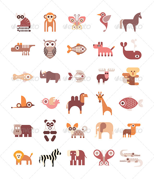 GraphicRiver Animal Icons 8429818