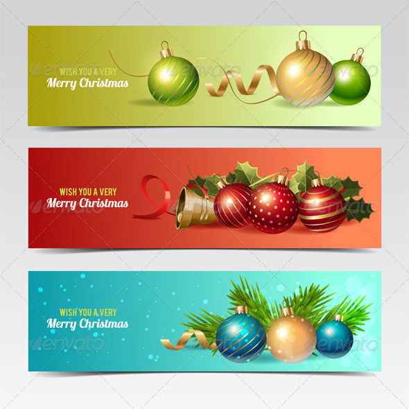 GraphicRiver Christmas Banners 8429955