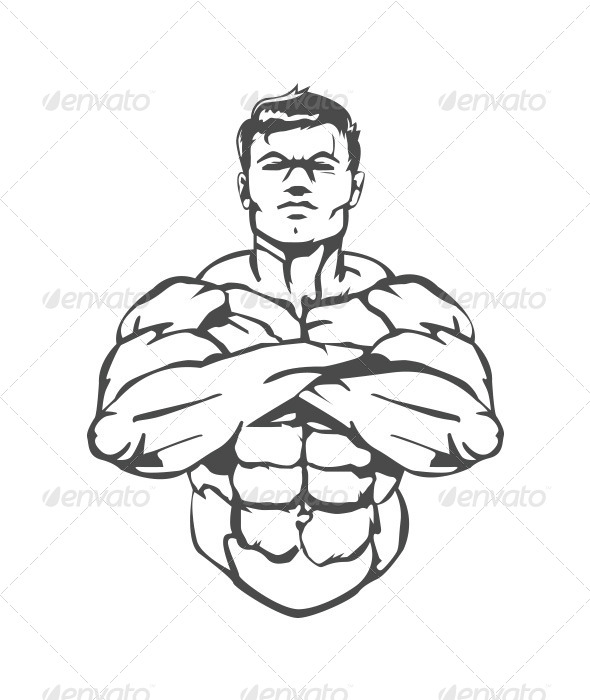 GraphicRiver Muscle Man 8430057