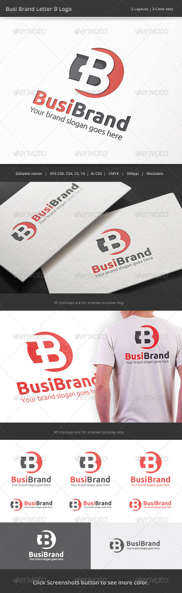 GraphicRiver Business Brand Letter B Logo 8430154