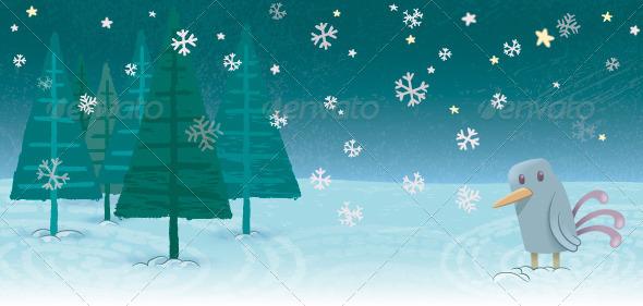 GraphicRiver Snowy Landscape 8430205