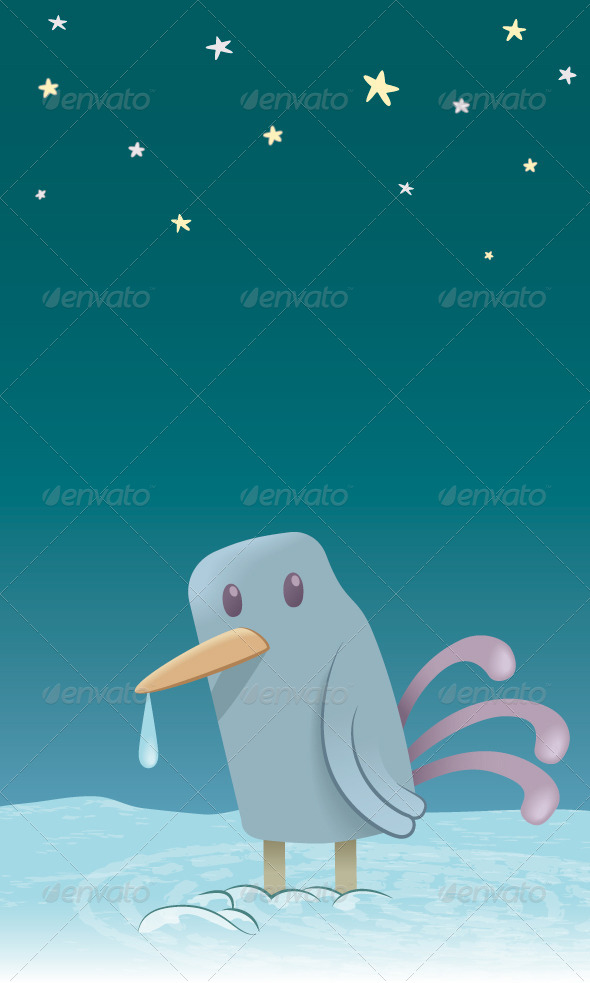 GraphicRiver Little Bird in the Cold 8430212