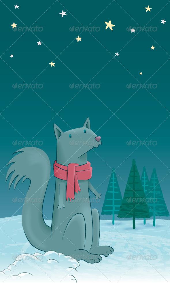 GraphicRiver A Squirrel in the Snow 8430326