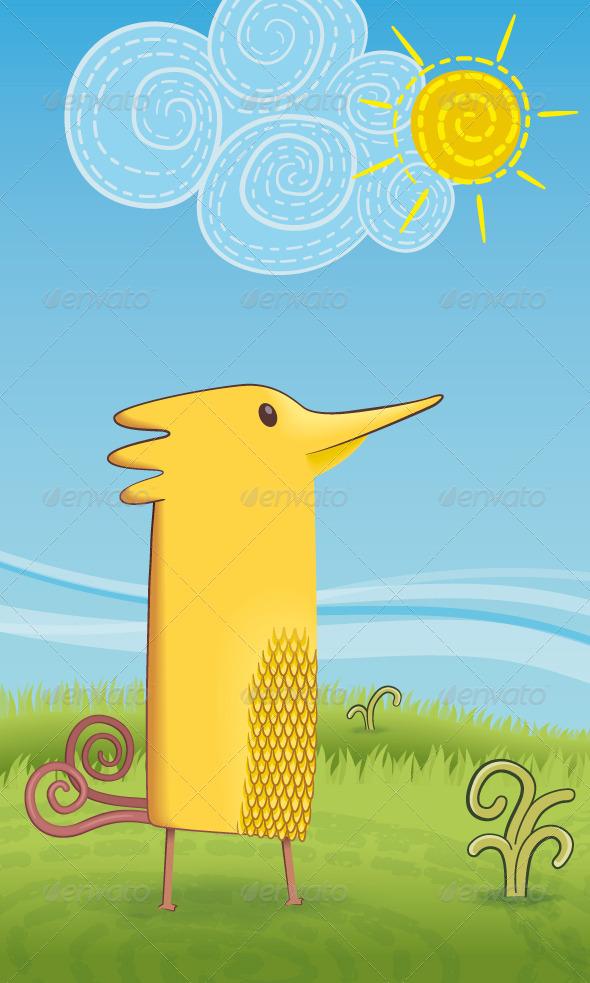 GraphicRiver Yellow Bird 8430404