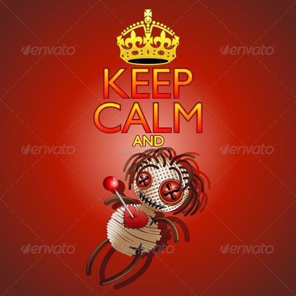 GraphicRiver Keep Calm and Voodoo Doll 8430549