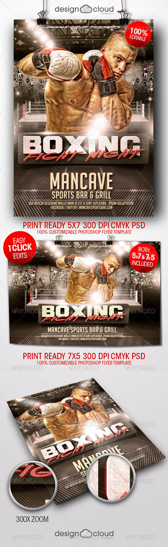 GraphicRiver Boxing Fight Night Flyer Templates 8430571