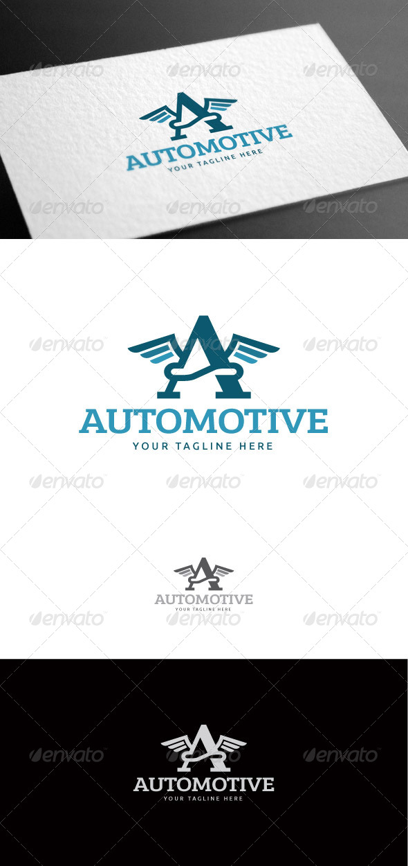 GraphicRiver Automotive Letter A Logo Template 8426964