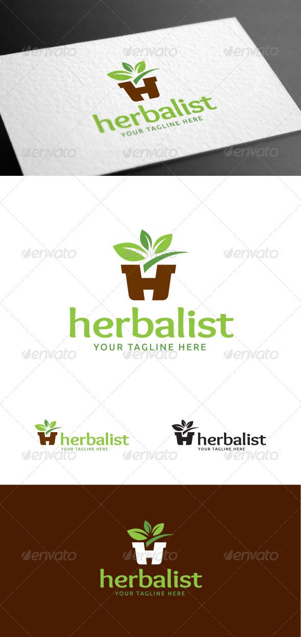 GraphicRiver Herbalist Letter H Logo Template 8426991