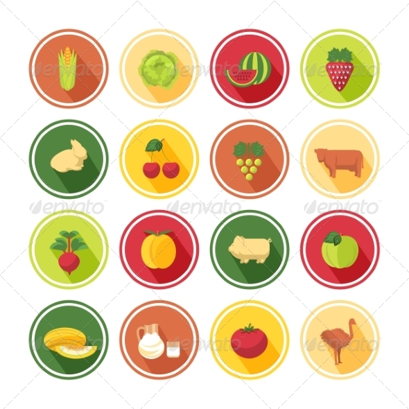GraphicRiver Food Icons Set 8430642