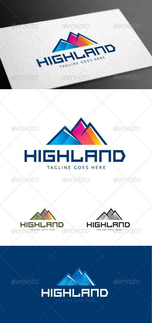 GraphicRiver Highland Colors Logo Template 8426993