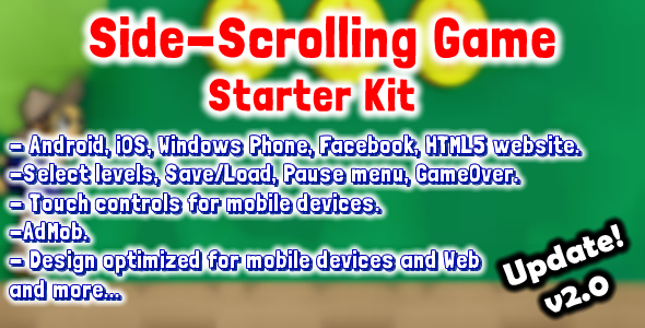 CodeCanyon Side Scrolling Game Starter Kit v2.0 8259587