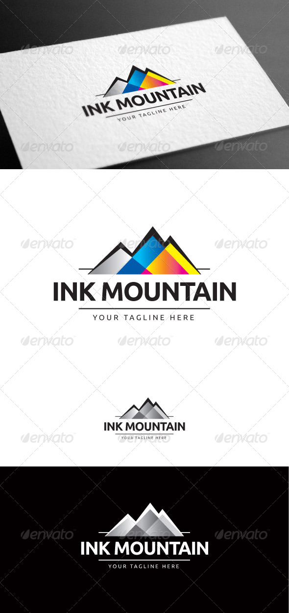 GraphicRiver Ink Mountain Logo Template 8426997