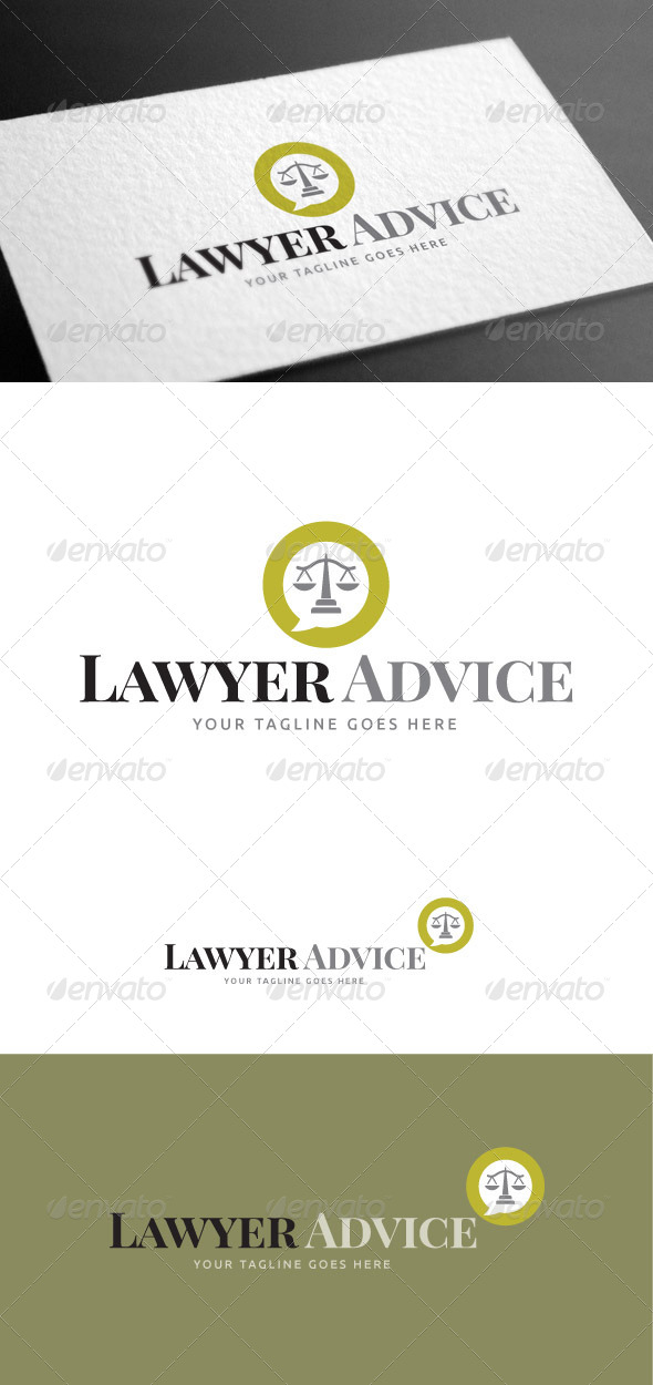 GraphicRiver Lawyer Advice Logo Template 8426998