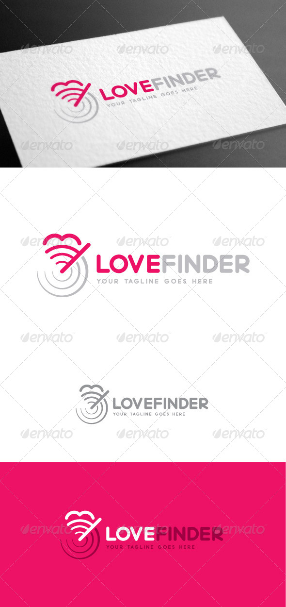 GraphicRiver Love Finder Logo Template 8426999