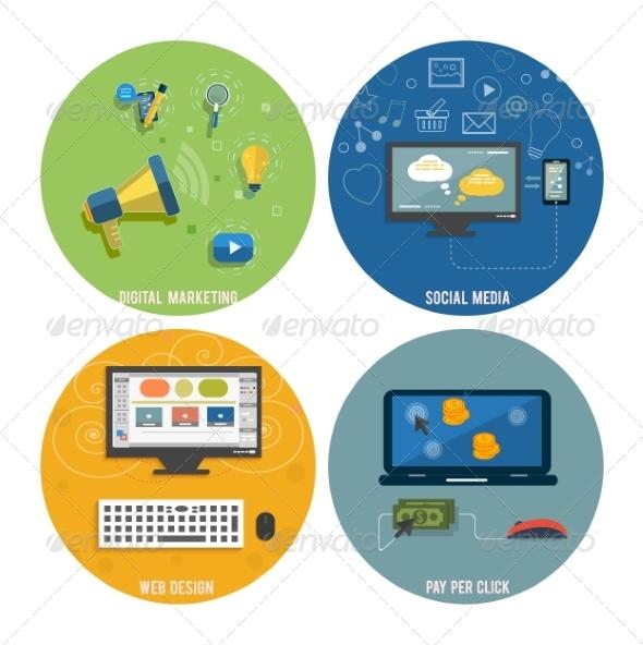 GraphicRiver Web Design Seo Social Media and Pay Per Click 8430663
