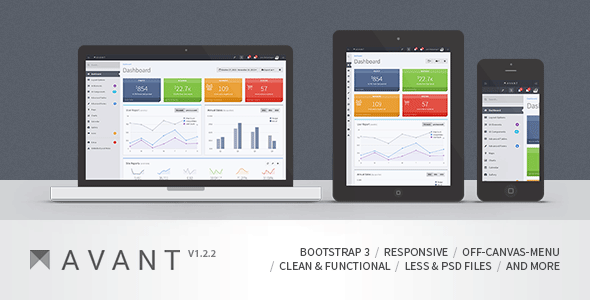 Avant - Clean and Responsive Bootstrap 3.2 Admin - Admin Templates Site Templates