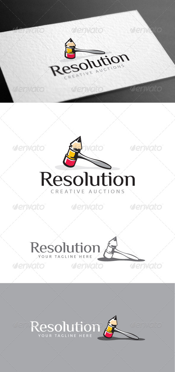 GraphicRiver Resolution Logo Template 8427089