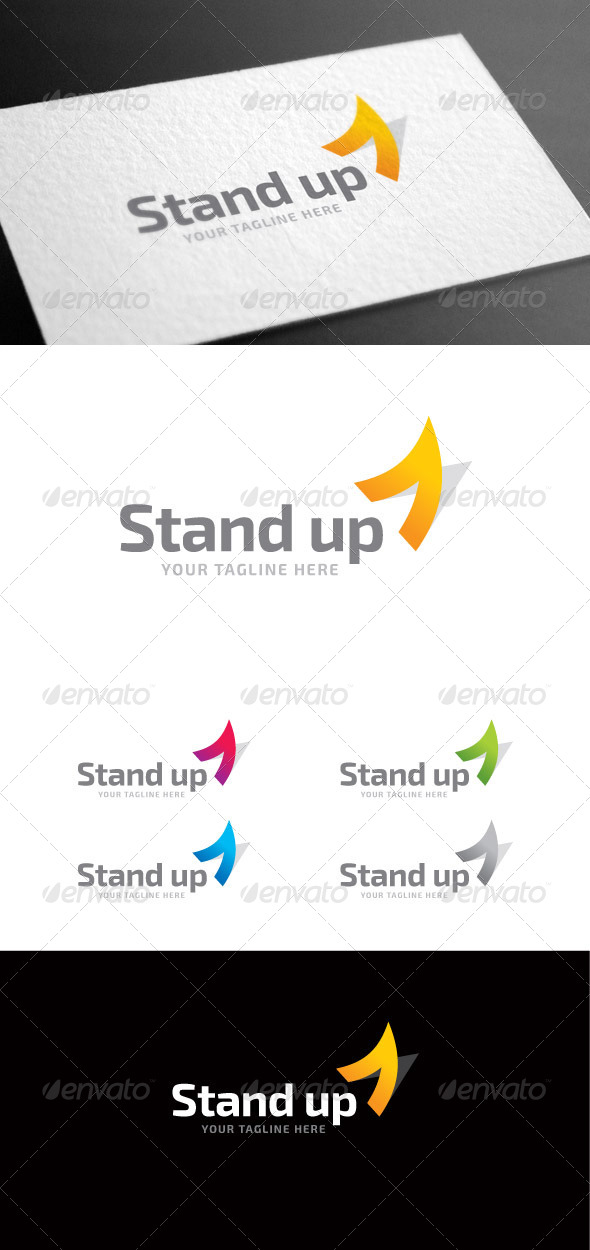GraphicRiver Standup Letter A Logo Template 8427090