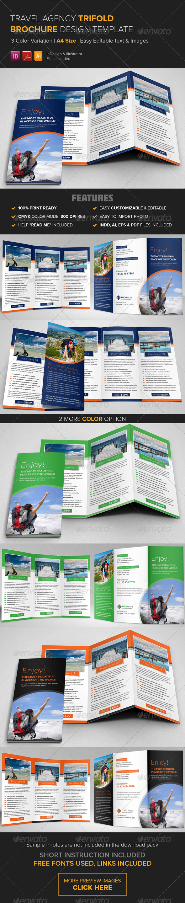 GraphicRiver Travel Agency Trifold Brochure Template 8430700