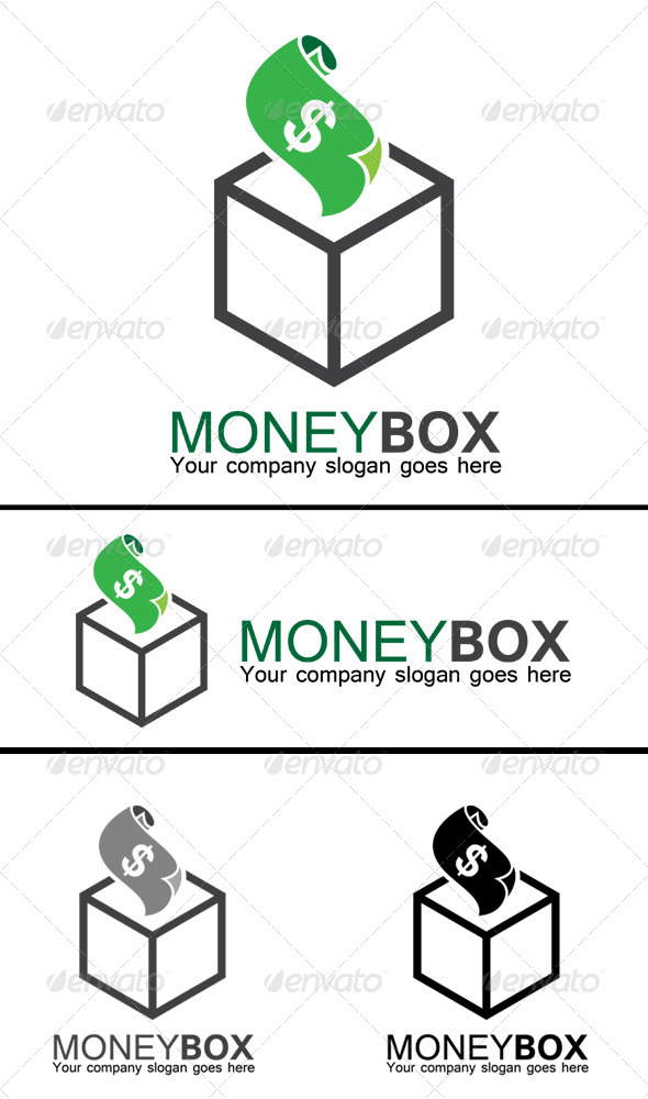 GraphicRiver Money Box Logo 8430710