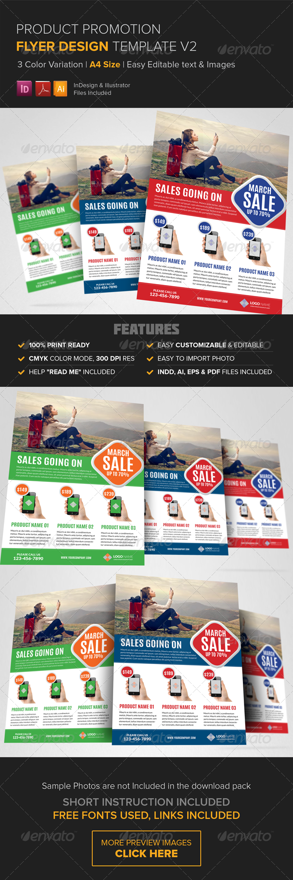 GraphicRiver Product Promotion Flyer Design Template v2 8430716