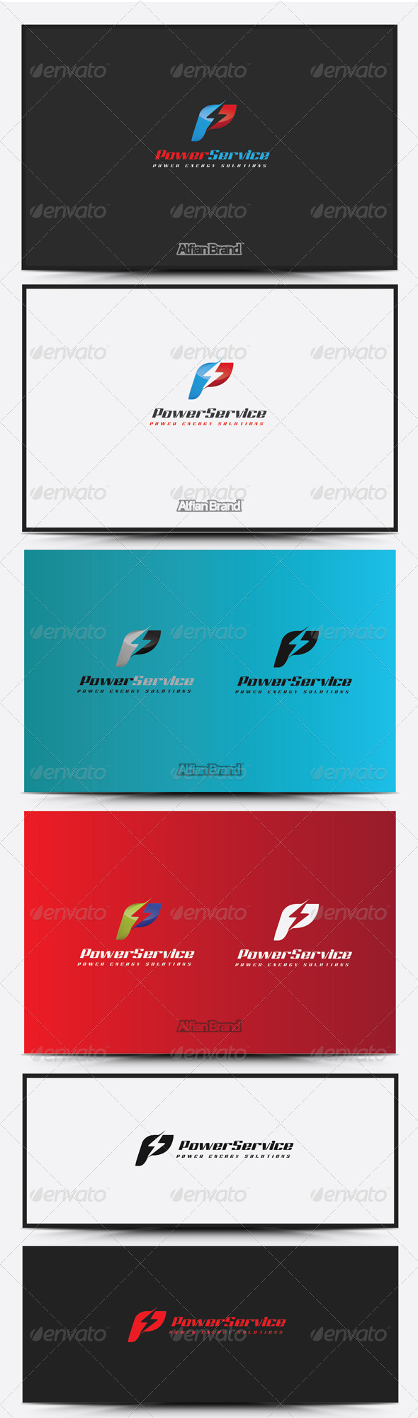 GraphicRiver Power Service Logo 8430938