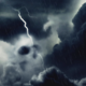 Dark Clouds And a Skull - VideoHive Item for Sale
