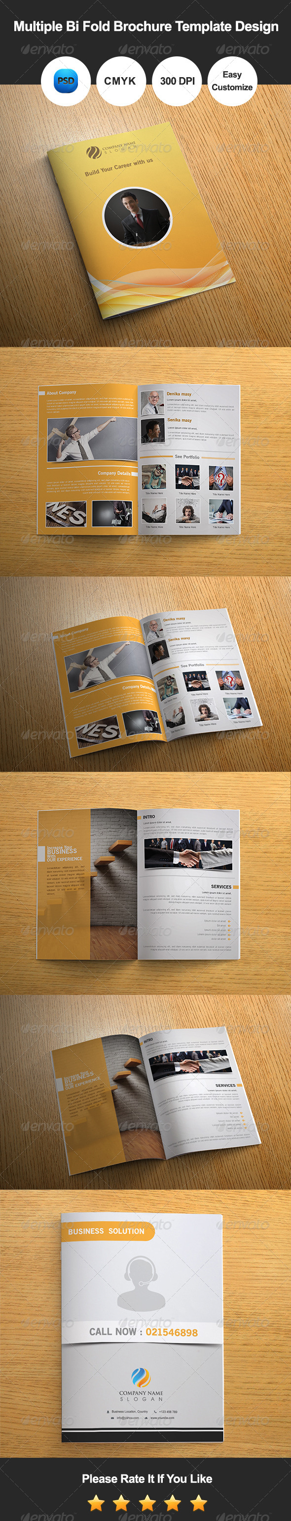 GraphicRiver Multiple Bi Fold Brochure Template Design 8427248