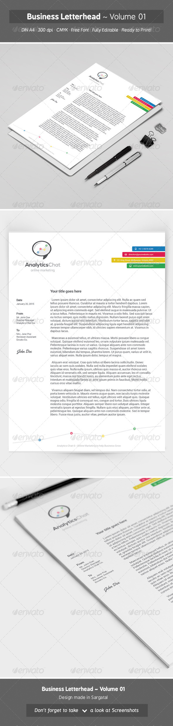 GraphicRiver Business Letterhead Volume 01 8431055