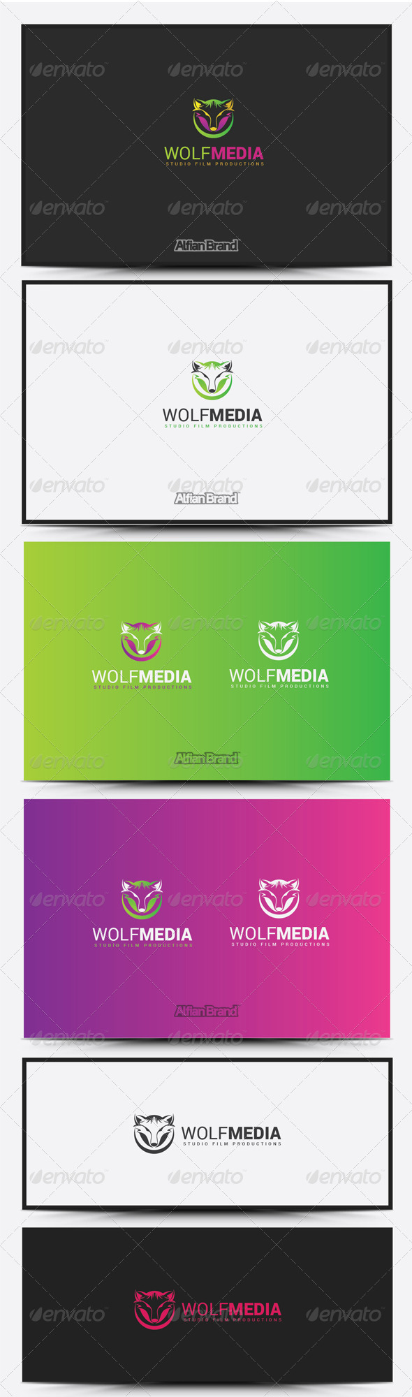 GraphicRiver Wolf Media Logo 8431084