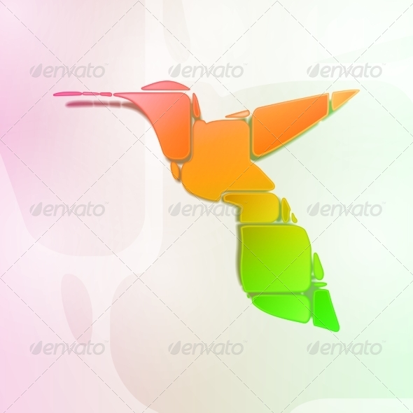 GraphicRiver Abstract Colorful Hummingbird 8431132